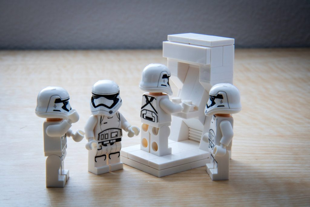 An arcade machine for stormtroopers