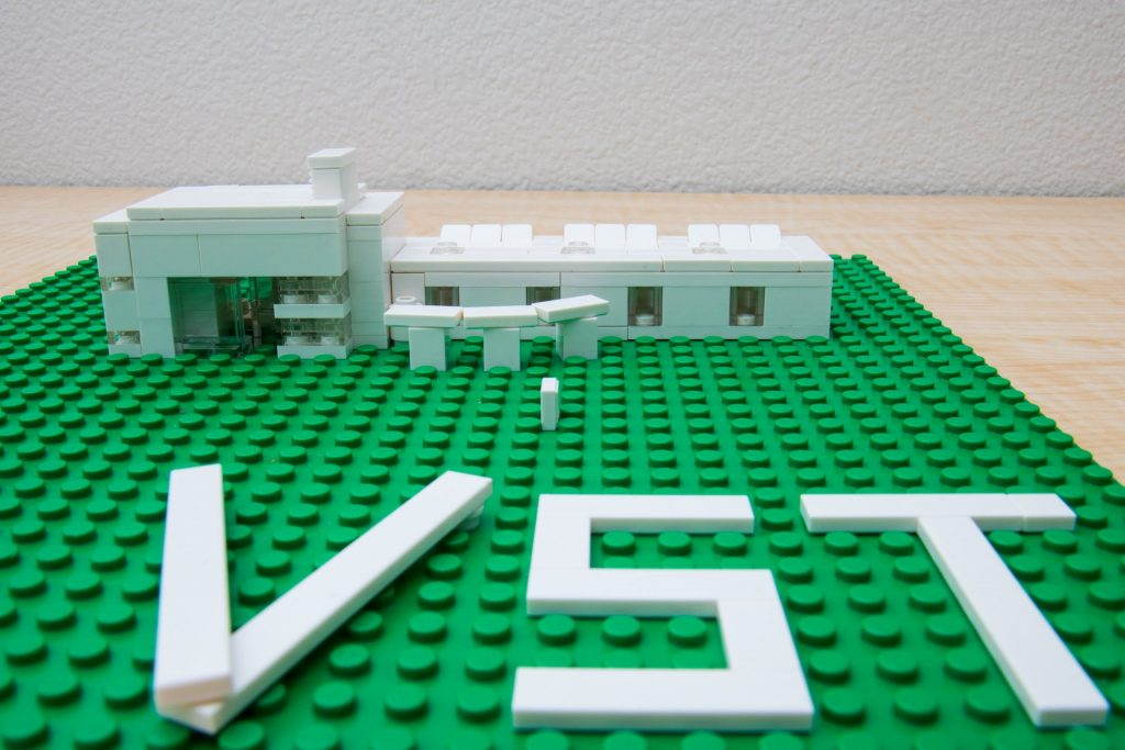 Building the Vernier headquarters building using the LEGO architecture set pieces