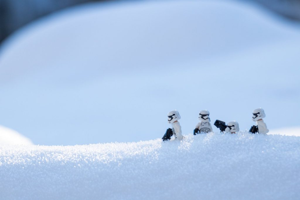 "During our Christmas in Sunriver, the stormtroopers enjoyed the 10"" of snow we had"